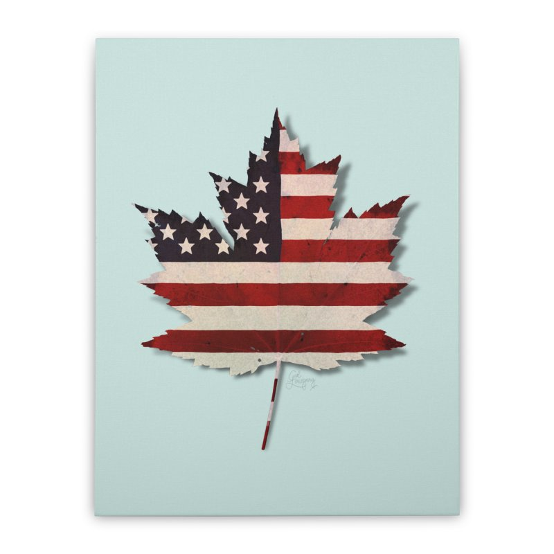 USA Maple Home Stretched Canvas by Hadeda Creative's Artist Shop