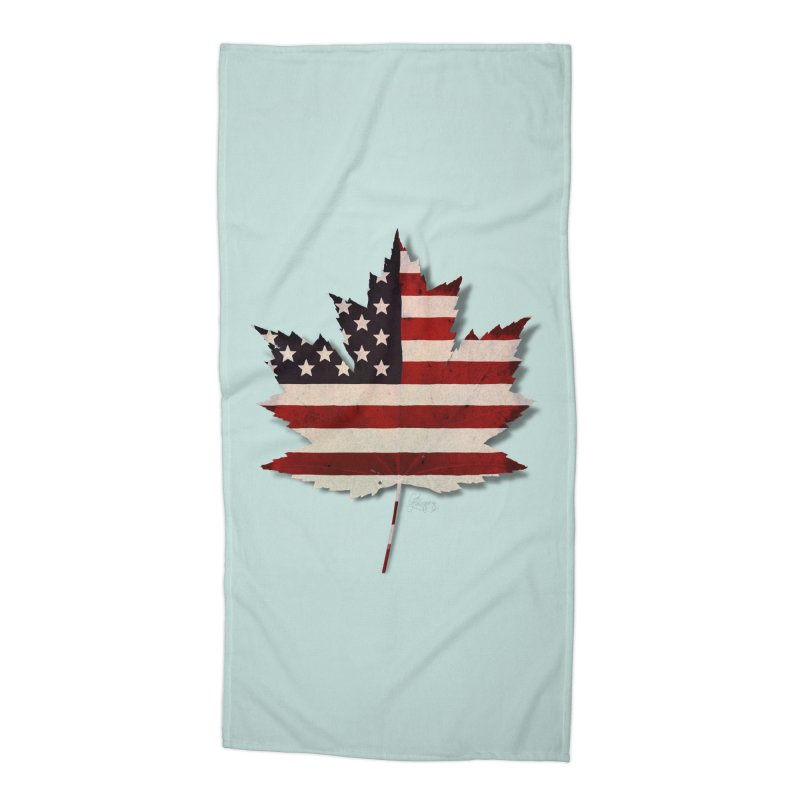 USA Maple Accessories Beach Towel by Hadeda Creative's Artist Shop
