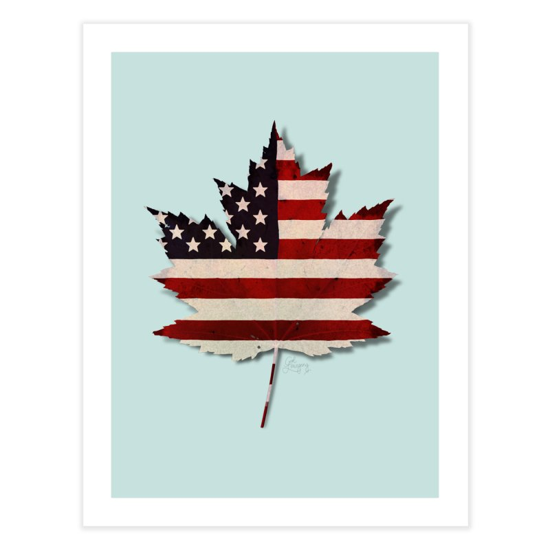 USA Maple Home Fine Art Print by Hadeda Creative's Artist Shop