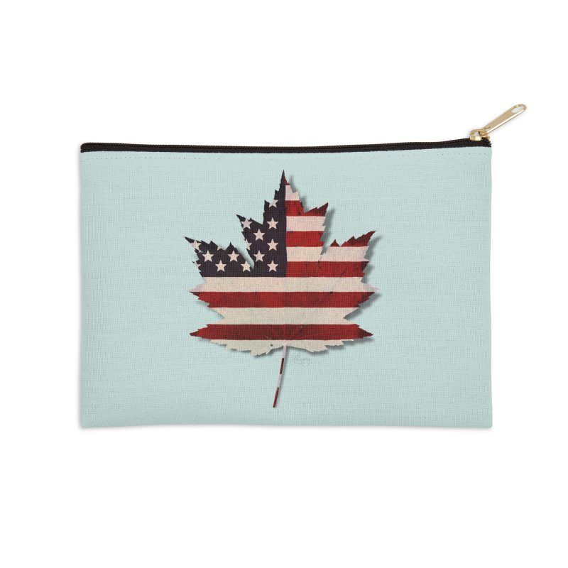 USA Maple Accessories Zip Pouch by Hadeda Creative's Artist Shop