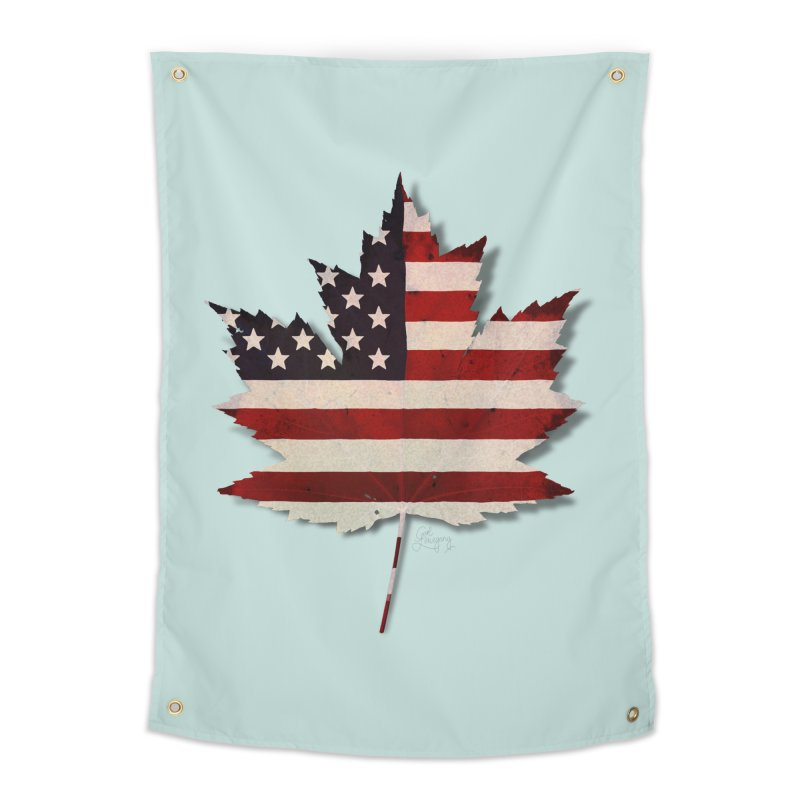 USA Maple Home Tapestry by Hadeda Creative's Artist Shop