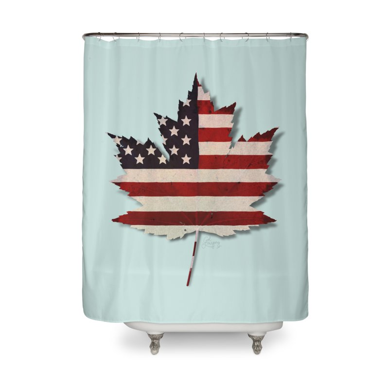 USA Maple Home Shower Curtain by Hadeda Creative's Artist Shop