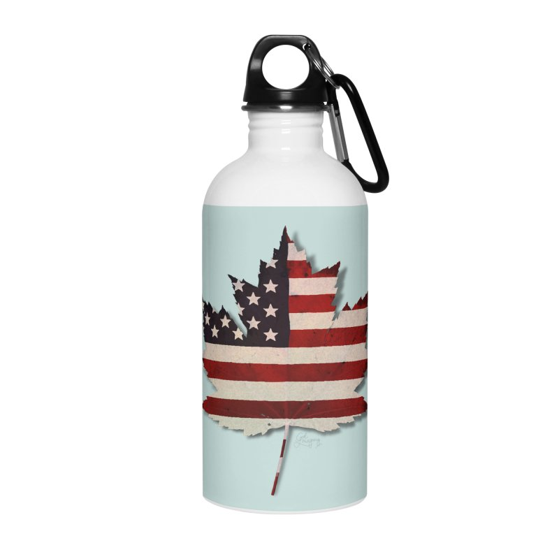 USA Maple Accessories Water Bottle by Hadeda Creative's Artist Shop
