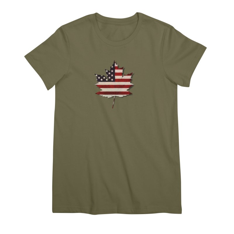 USA Maple Women's Premium T-Shirt by Hadeda Creative's Artist Shop