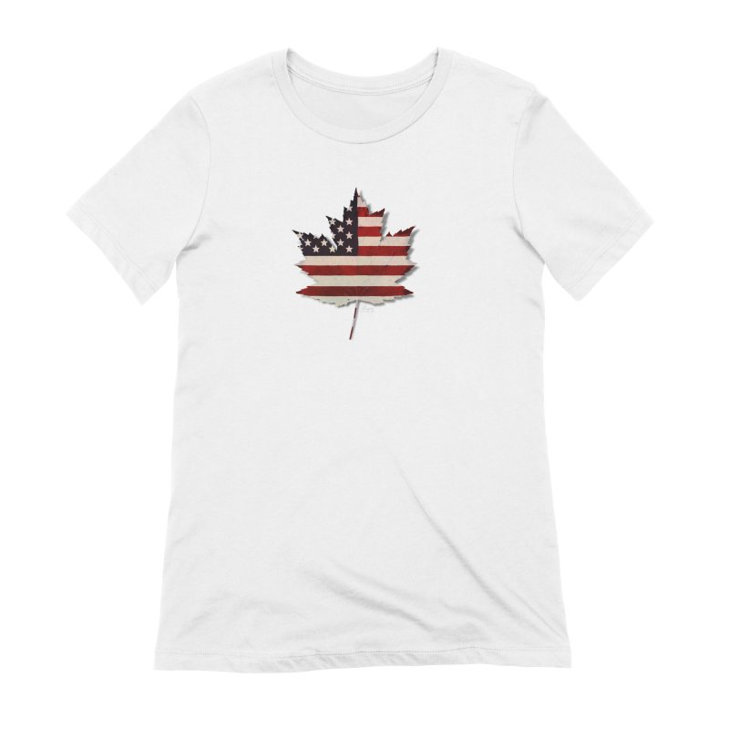 USA Maple Women's Extra Soft T-Shirt by Hadeda Creative's Artist Shop