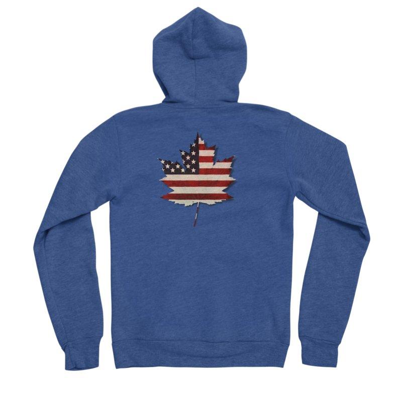 USA Maple Men's Sponge Fleece Zip-Up Hoody by Hadeda Creative's Artist Shop