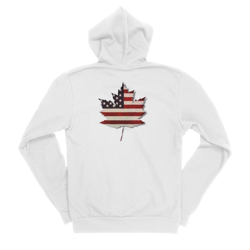 USA Maple Women's Sponge Fleece Zip-Up Hoody by Hadeda Creative's Artist Shop