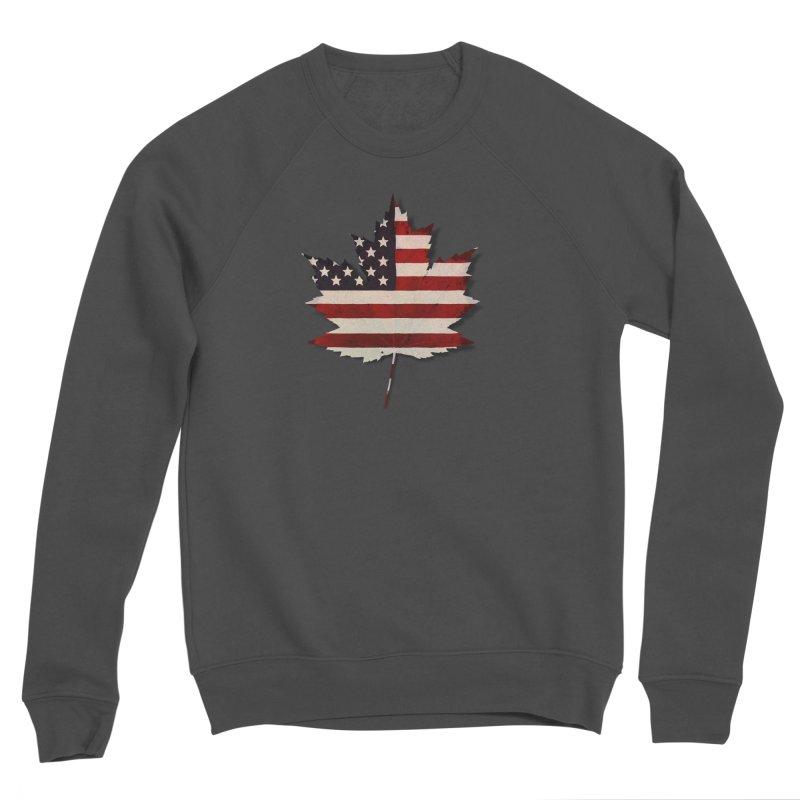 USA Maple Men's Sponge Fleece Sweatshirt by Hadeda Creative's Artist Shop
