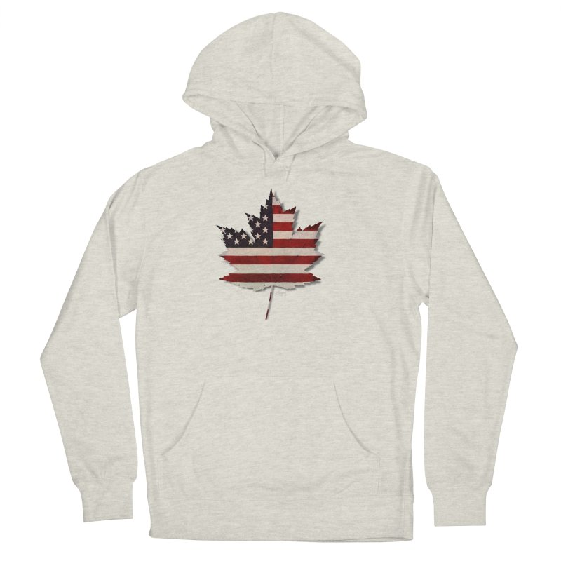 USA Maple Men's French Terry Pullover Hoody by Hadeda Creative's Artist Shop