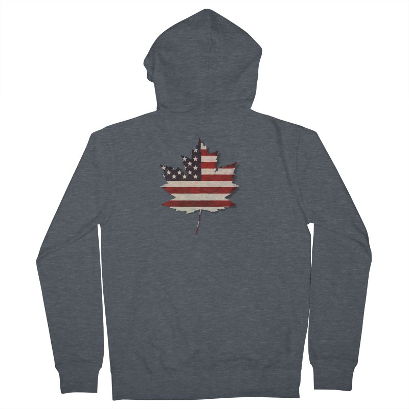 USA Maple Women's French Terry Zip-Up Hoody by Hadeda Creative's Artist Shop