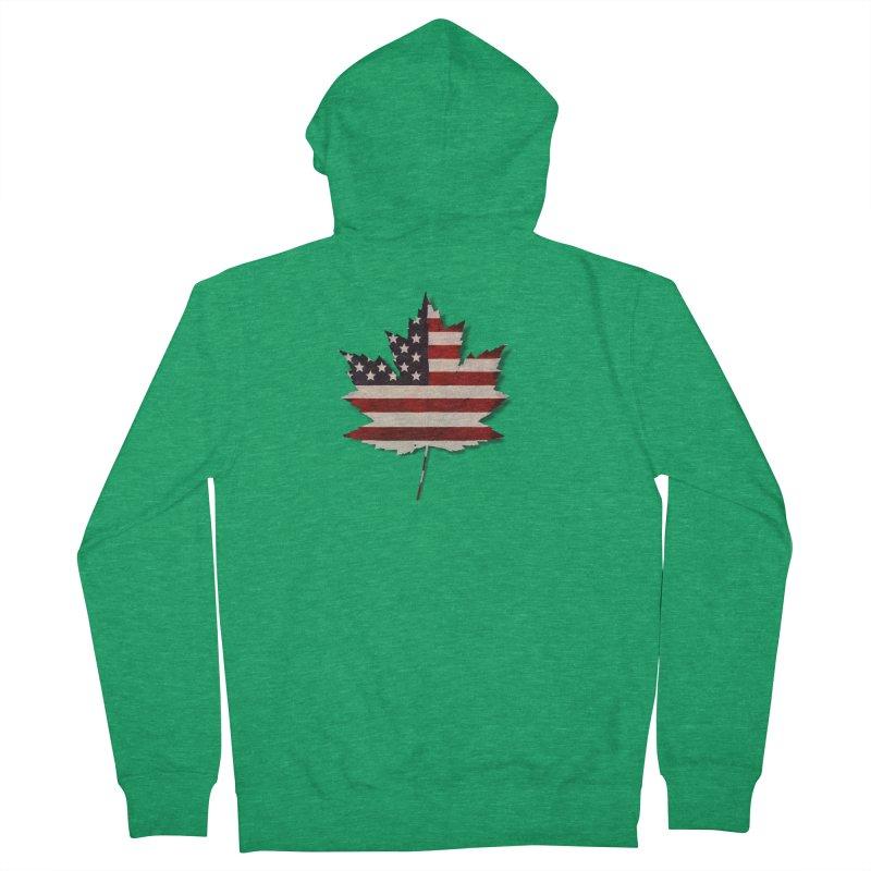 USA Maple Men's Zip-Up Hoody by Hadeda Creative's Artist Shop