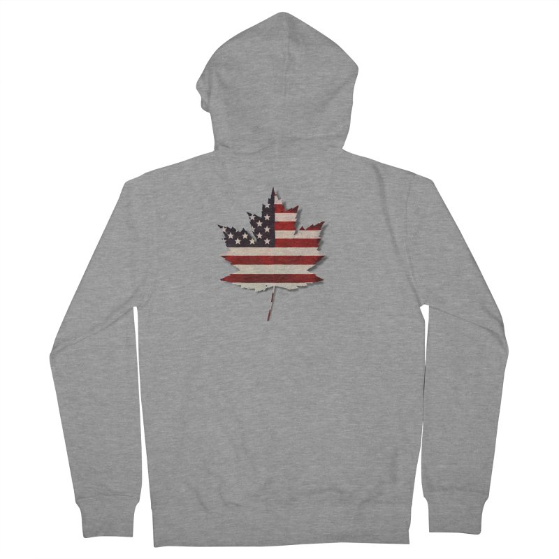 USA Maple Men's French Terry Zip-Up Hoody by Hadeda Creative's Artist Shop