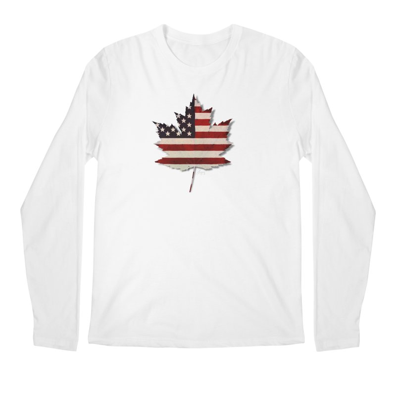 USA Maple Men's Regular Longsleeve T-Shirt by Hadeda Creative's Artist Shop