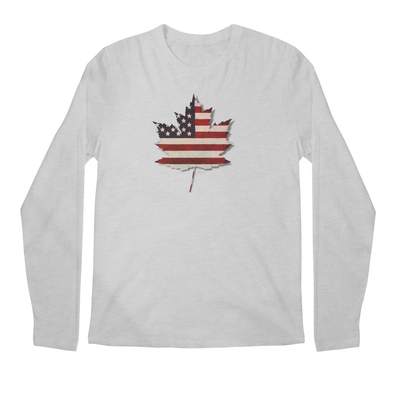 USA Maple Men's Regular Longsleeve T-Shirt by Hadeda Creative's Artist Shop