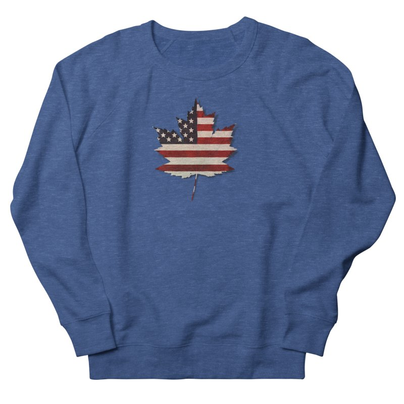 USA Maple Men's French Terry Sweatshirt by Hadeda Creative's Artist Shop