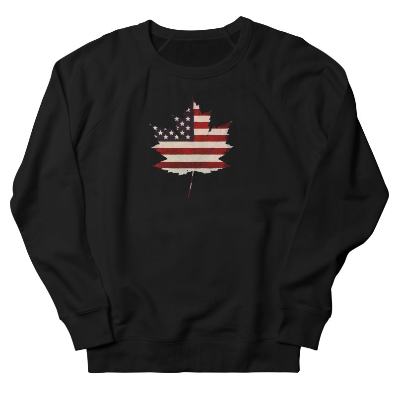 USA Maple Men's French Terry Sweatshirt by Hadeda Creative's Artist Shop