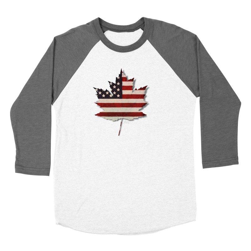 USA Maple Men's Baseball Triblend Longsleeve T-Shirt by Hadeda Creative's Artist Shop
