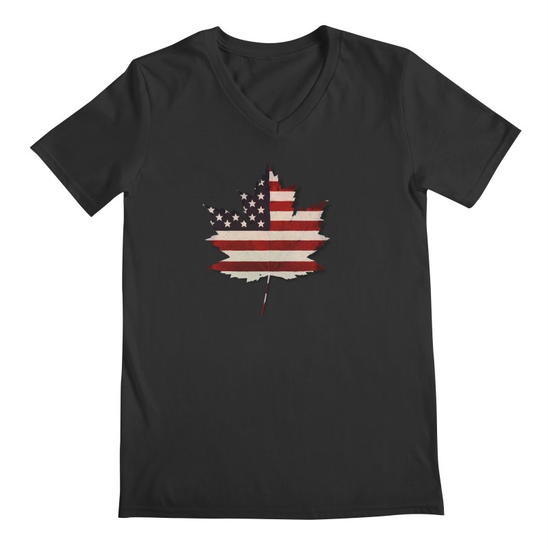 USA Maple Men's Regular V-Neck by Hadeda Creative's Artist Shop
