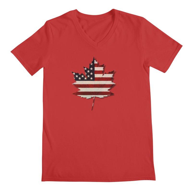 USA Maple Men's Regular V-Neck by Hadeda Creative's Artist Shop