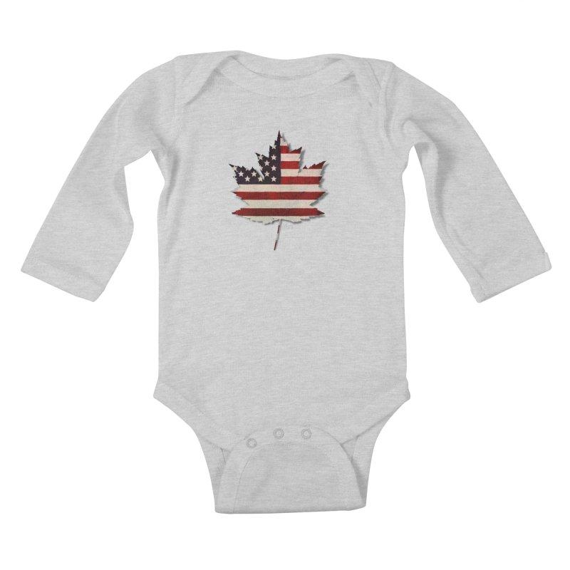 USA Maple Kids Baby Longsleeve Bodysuit by Hadeda Creative's Artist Shop