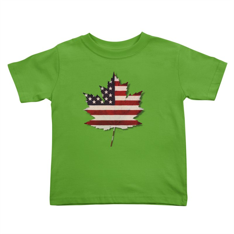 USA Maple Kids Toddler T-Shirt by Hadeda Creative's Artist Shop