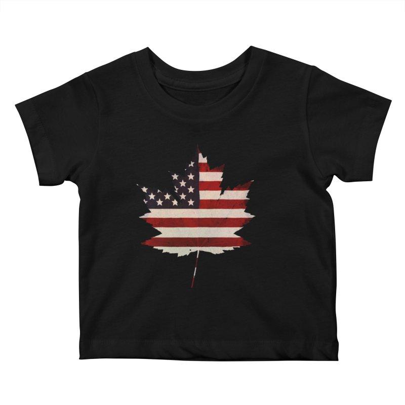 USA Maple Kids Baby T-Shirt by Hadeda Creative's Artist Shop