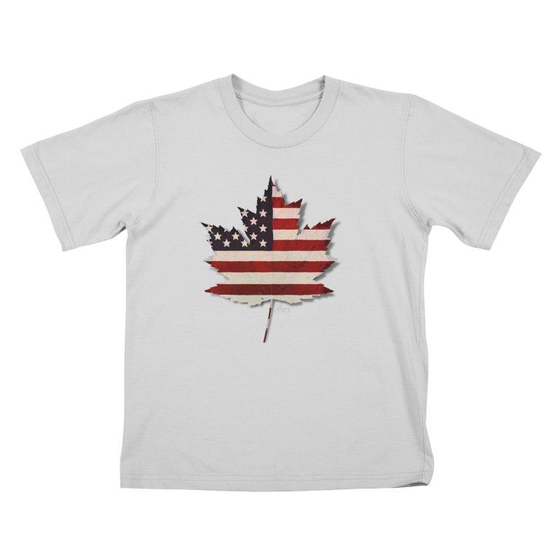 USA Maple Kids T-Shirt by Hadeda Creative's Artist Shop