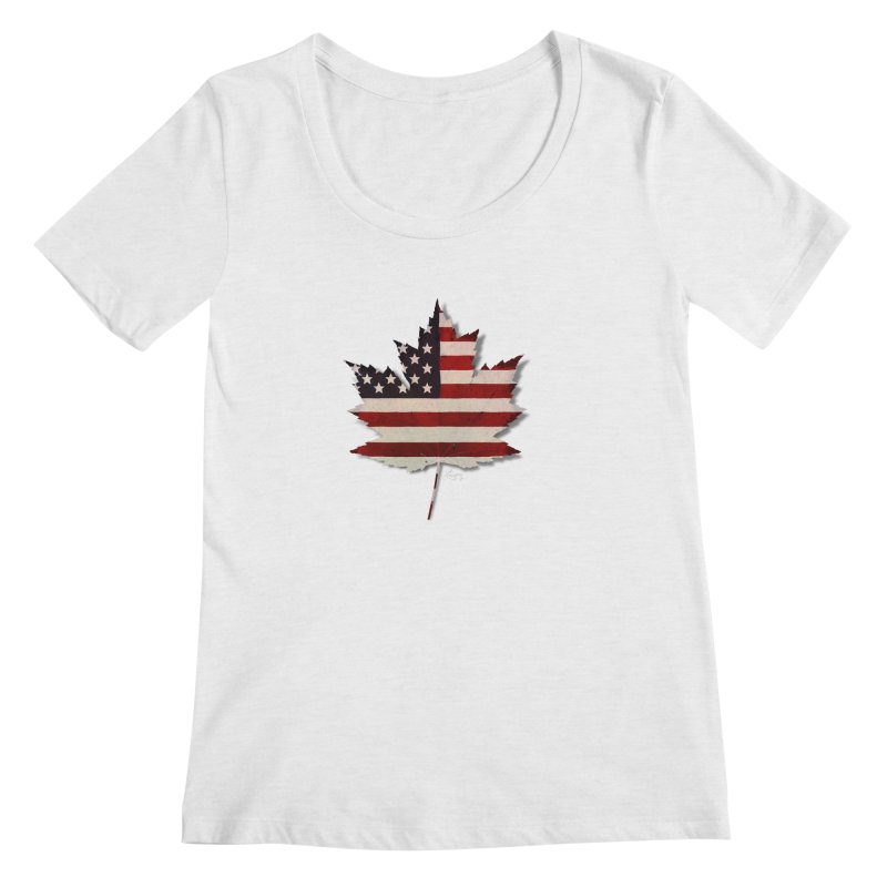 USA Maple Women's Regular Scoop Neck by Hadeda Creative's Artist Shop