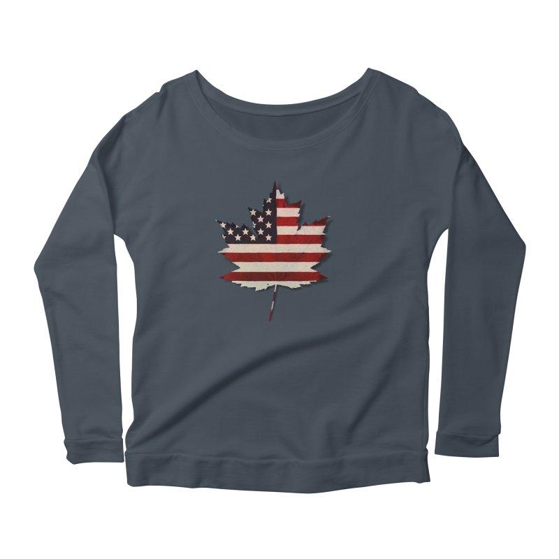 USA Maple Women's Scoop Neck Longsleeve T-Shirt by Hadeda Creative's Artist Shop