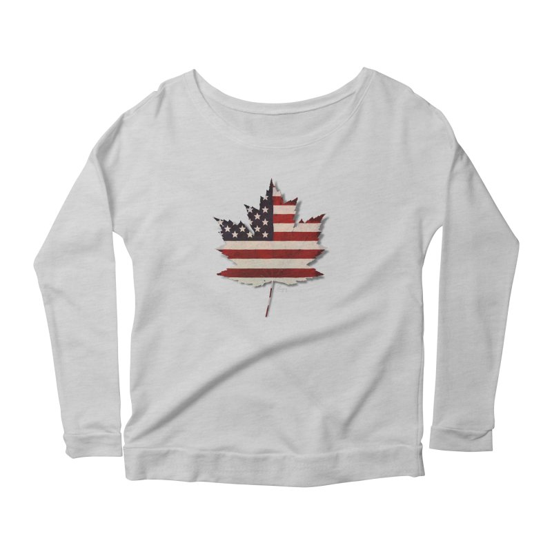 USA Maple Women's Scoop Neck Longsleeve T-Shirt by Hadeda Creative's Artist Shop