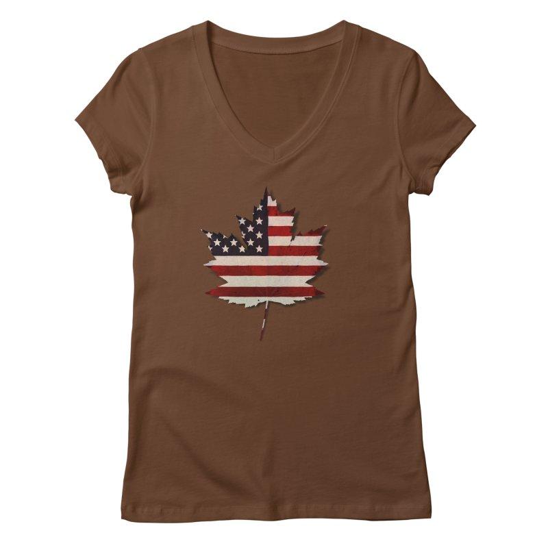 USA Maple Women's Regular V-Neck by Hadeda Creative's Artist Shop