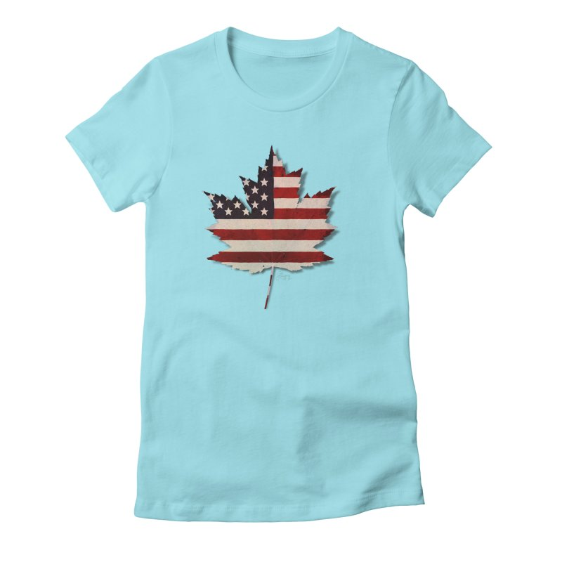 USA Maple Women's Fitted T-Shirt by Hadeda Creative's Artist Shop
