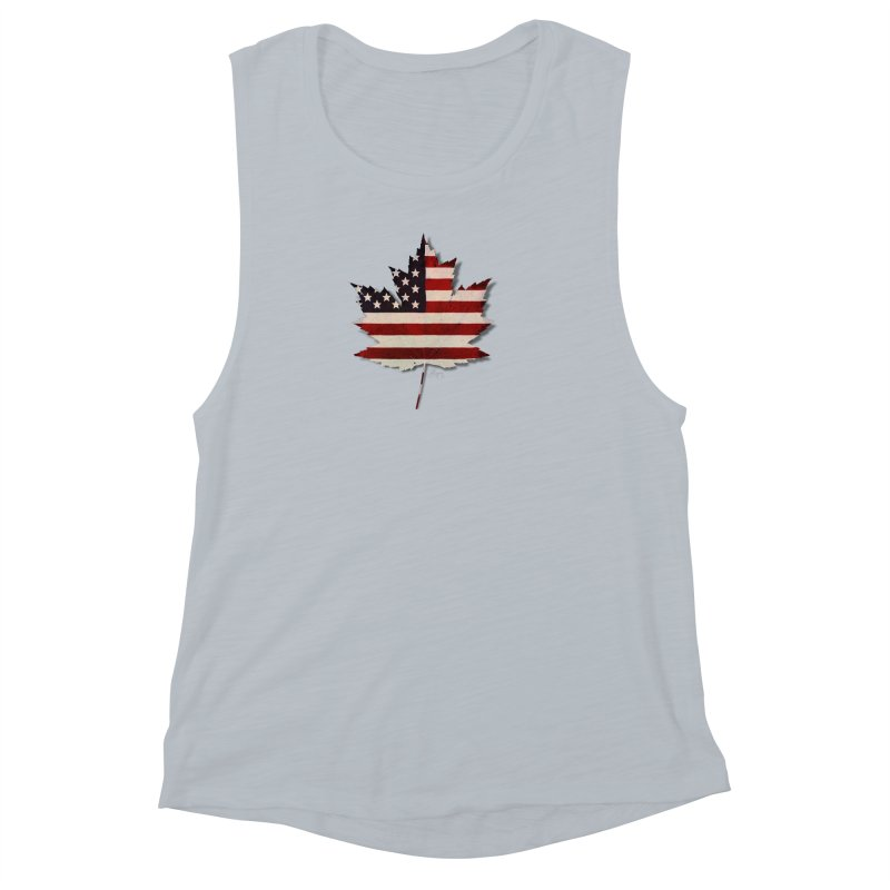 USA Maple Women's Muscle Tank by Hadeda Creative's Artist Shop
