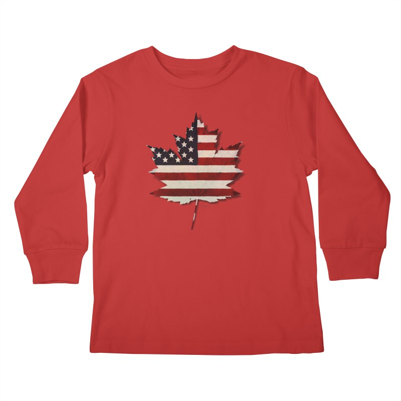 USA Maple Kids Longsleeve T-Shirt by Hadeda Creative's Artist Shop