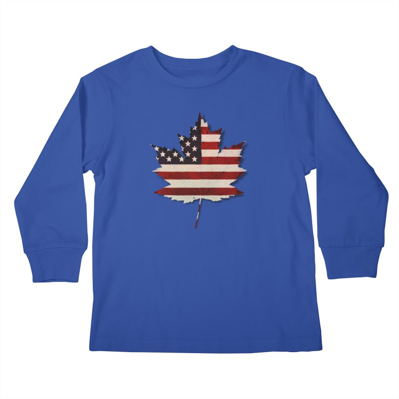 USA Maple Kids Longsleeve T-Shirt by Hadeda Creative's Artist Shop