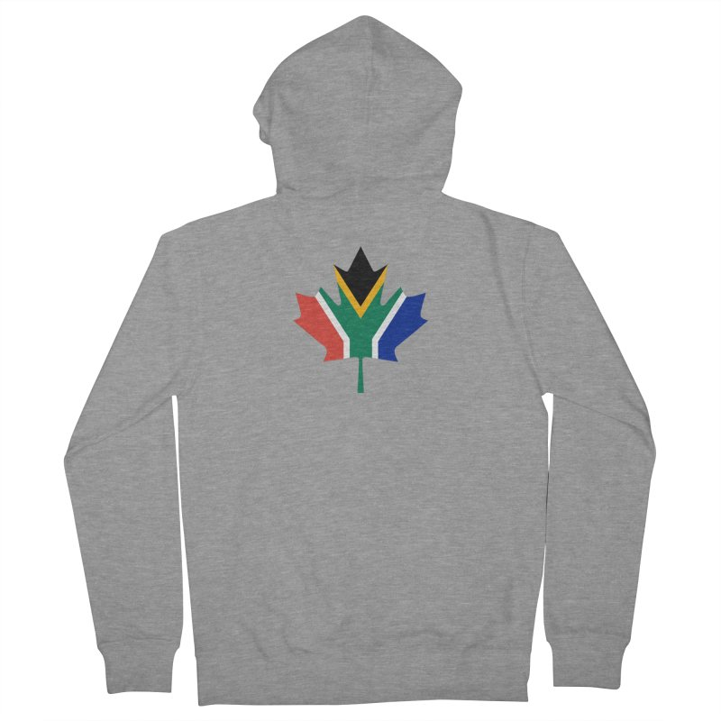 SA Maple Men's French Terry Zip-Up Hoody by Hadeda Creative's Artist Shop