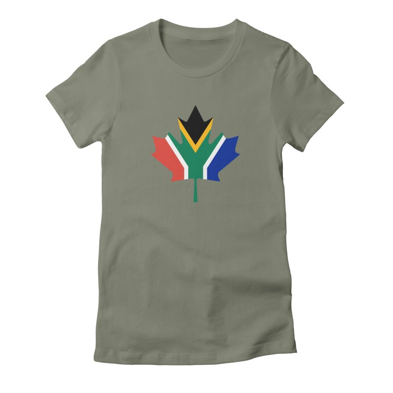 SA Maple Women's Fitted T-Shirt by Hadeda Creative's Artist Shop