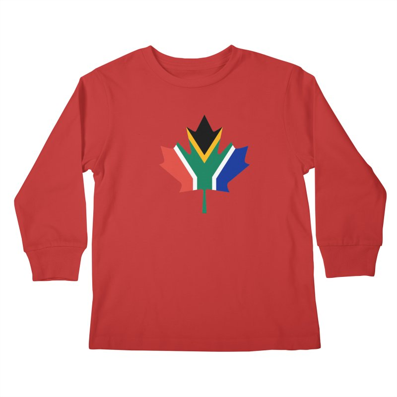 SA Maple Kids Longsleeve T-Shirt by Hadeda Creative's Artist Shop