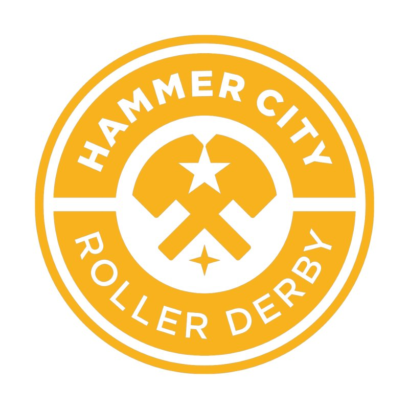 HCRD official logo by Hammer City Roller Derby