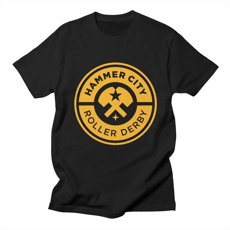 HCRD official logo Men's Regular T-Shirt by Hammer City Roller Derby