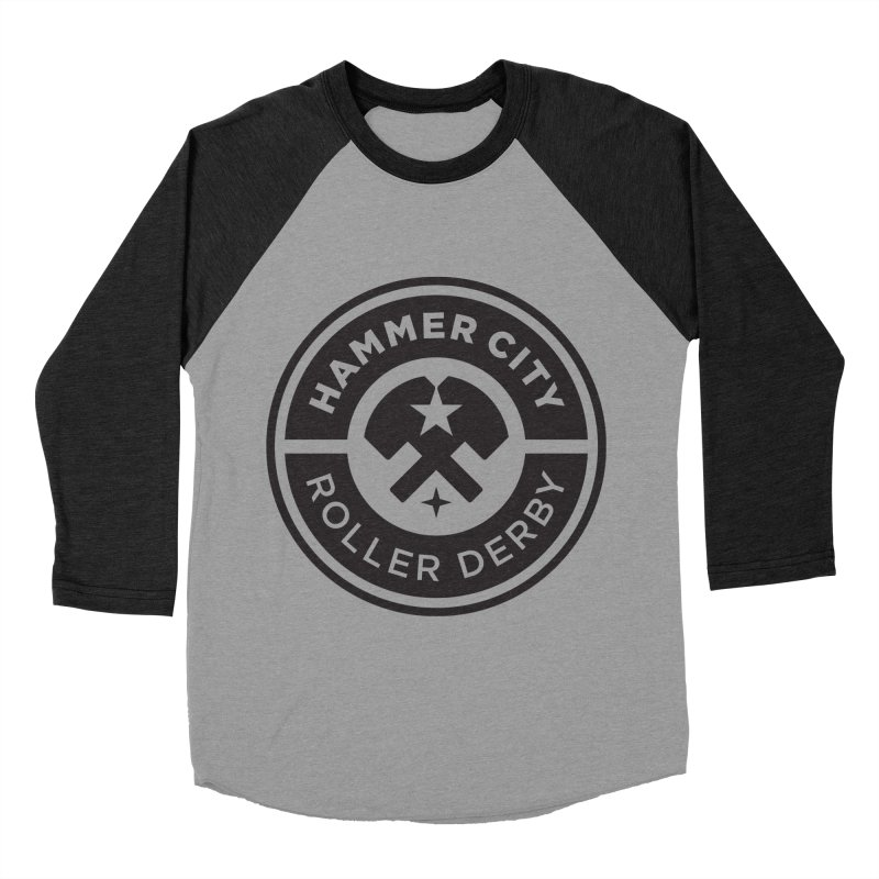 HCRD official logo Women's Baseball Triblend Longsleeve T-Shirt by Hammer City Roller Derby