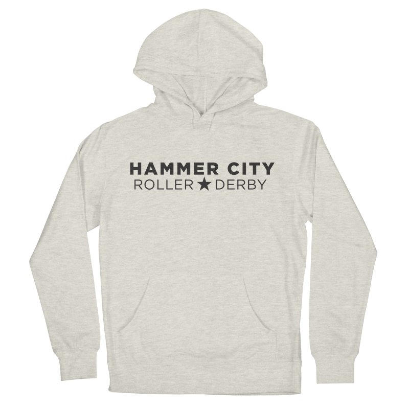 HCRD Banner Men's French Terry Pullover Hoody by Hammer City Roller Derby