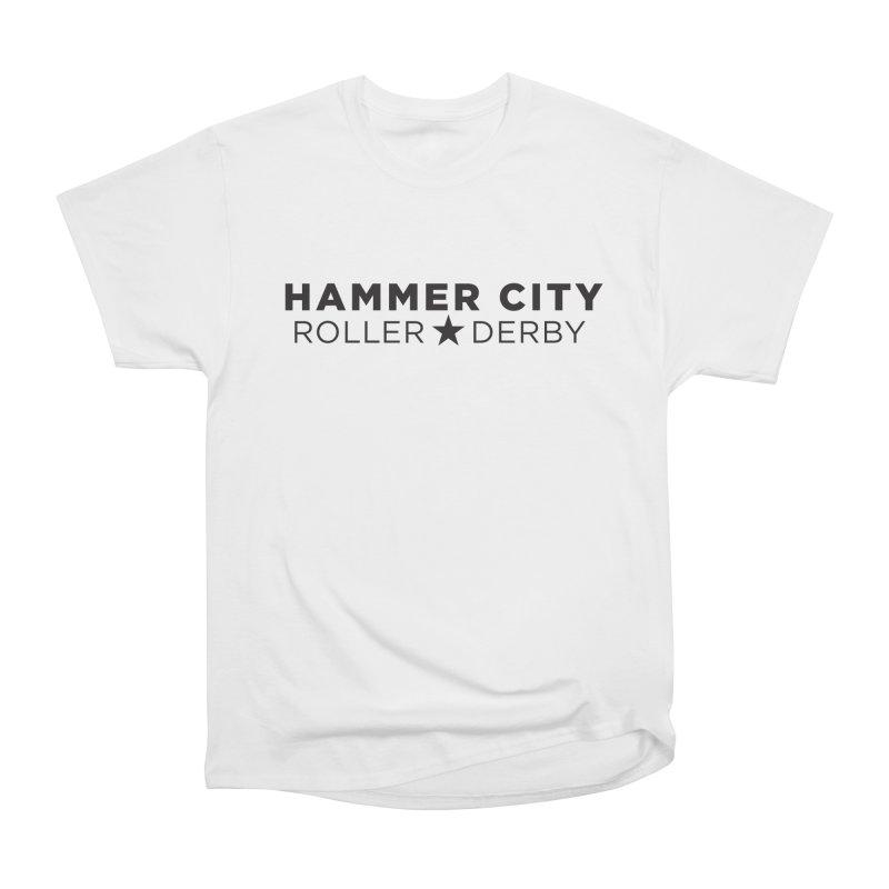 HCRD Banner Men's Heavyweight T-Shirt by Hammer City Roller Derby