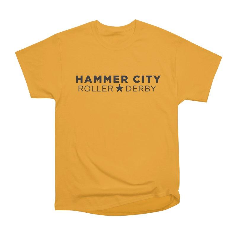 HCRD Banner Women's Heavyweight Unisex T-Shirt by Hammer City Roller Derby