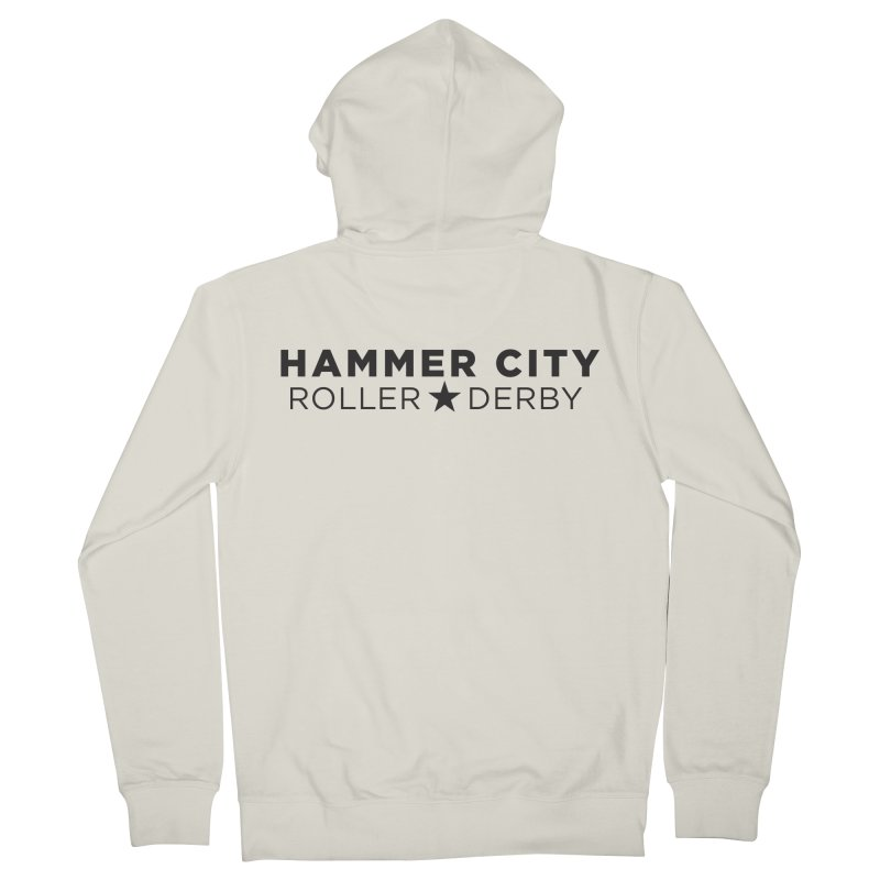 HCRD Banner Men's French Terry Zip-Up Hoody by Hammer City Roller Derby
