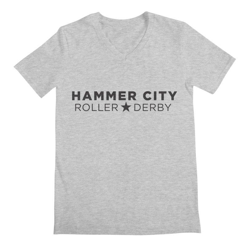 HCRD Banner Men's V-Neck by Hammer City Roller Derby