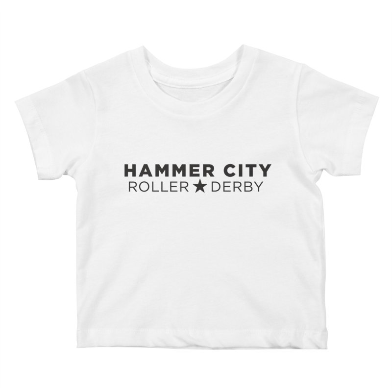 HCRD Banner Kids Baby T-Shirt by Hammer City Roller Derby