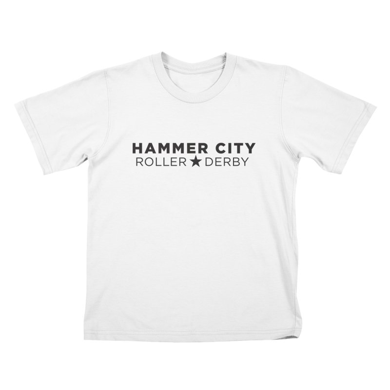 HCRD Banner Kids T-Shirt by Hammer City Roller Derby