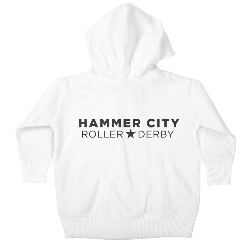 HCRD Banner Kids Baby Zip-Up Hoody by Hammer City Roller Derby