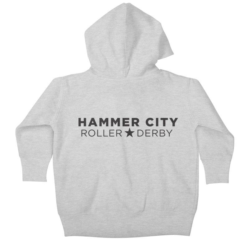 HCRD Banner Kids Baby Zip-Up Hoody by Hammer City Roller Derby